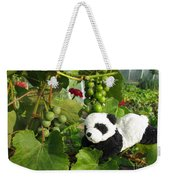 I Love Grapes Says The Panda Weekender Tote Bag