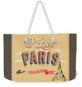 I Love Paris Weekender Tote Bag