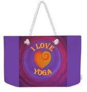 I Love Yoga Weekender Tote Bag