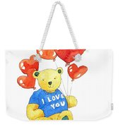 I Love You Bear Weekender Tote Bag