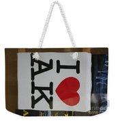 I Luv Alaska  Logo Weekender Tote Bag