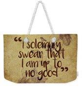 I Swear Weekender Tote Bag