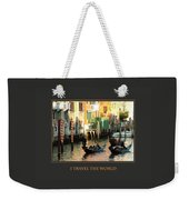 I Travel The World Venice Weekender Tote Bag
