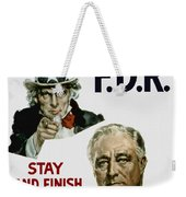 I Want You Fdr  Weekender Tote Bag