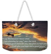 I Will Give You Hope Weekender Tote Bag