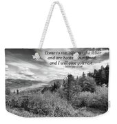 I Will Give You Rest Weekender Tote Bag