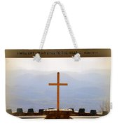 I Will Lift My Eyes To The Hills Psalm 121 1 Vertical 2 Weekender Tote Bag