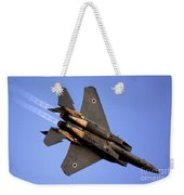 Iaf F15i Fighter Jet On Blue Sky Weekender Tote Bag