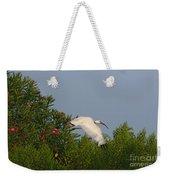 Ibis In The Oleander Weekender Tote Bag