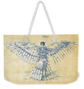 Icarus Human Flight Patent Artwork - Vintage Weekender Tote Bag