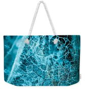 Ice Abstract Deep Blue Weekender Tote Bag