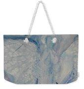 Ice Blue Angel Weekender Tote Bag
