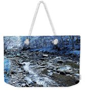 Ice Blue Forest Weekender Tote Bag