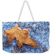Ice-bound Leaf Weekender Tote Bag