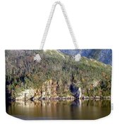 Ice Cliff In Autumn Weekender Tote Bag