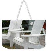 Ice-coated Chairs Weekender Tote Bag
