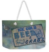 Ice Cold Beer And Crabs - Looks Like Summer At The Shore Weekender Tote Bag