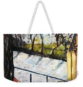 Ice-covered Pond Weekender Tote Bag