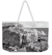 Ice Covered Rocks  Weekender Tote Bag