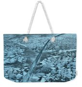 Ice Cracks And Bubbles Weekender Tote Bag