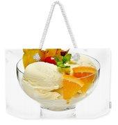 Ice Cream With Fruit Weekender Tote Bag by Elena Elisseeva