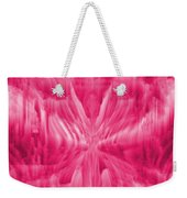 Ice Crystal Angel - Pink Weekender Tote Bag