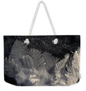Ice Crystals Form Feather Shapes On Ice Weekender Tote Bag