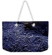 Ice Crystals In River Weekender Tote Bag