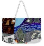 Ice Fishing Weekender Tote Bag
