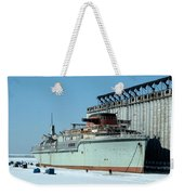 Ice Fishing On Lake Erie Weekender Tote Bag