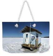Ice Fishing Shack Weekender Tote Bag