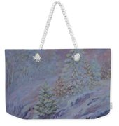 Ice Fog In The Forest Weekender Tote Bag