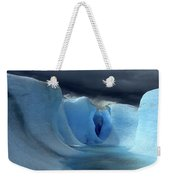 Ice Formations On Grey Glacier Chile Weekender Tote Bag