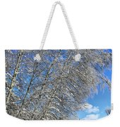 Ice Laden Birches Weekender Tote Bag