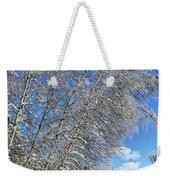 Ice Laden Birches Weekender Tote Bag