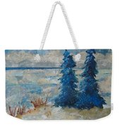 Ice On Lake Erie Weekender Tote Bag
