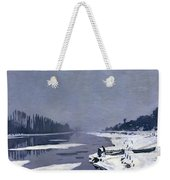 Ice On The Seine At Bougival Weekender Tote Bag