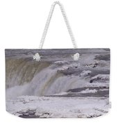 Ice Over The Falls Weekender Tote Bag