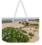 Ice Plant Booms On Pebble Beach Weekender Tote Bag