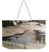 Ice Pond Weekender Tote Bag