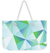 Ice Shards Abstract Geometric Angles Pattern Weekender Tote Bag