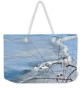 Ice Waves Weekender Tote Bag