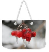 Ice Wrapped Berries Weekender Tote Bag