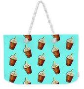 Iced Coffee To Go Pattern Weekender Tote Bag