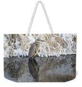 Iced Heron Weekender Tote Bag