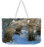 Iced Ornamental Grass Weekender Tote Bag