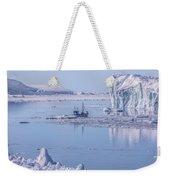 Icefjord In Greenland Weekender Tote Bag
