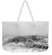 Iceland Black Sand Beach Wave Three Weekender Tote Bag