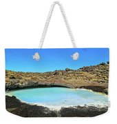Iceland Blue Lagoon Exploring The Lava Fields Weekender Tote Bag