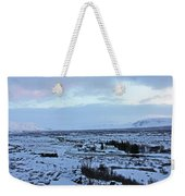 Iceland Country Side Clouds Mountains Stream Iceland Rocks Lake Clouds Iceland 2 2112018 0971 Weekender Tote Bag